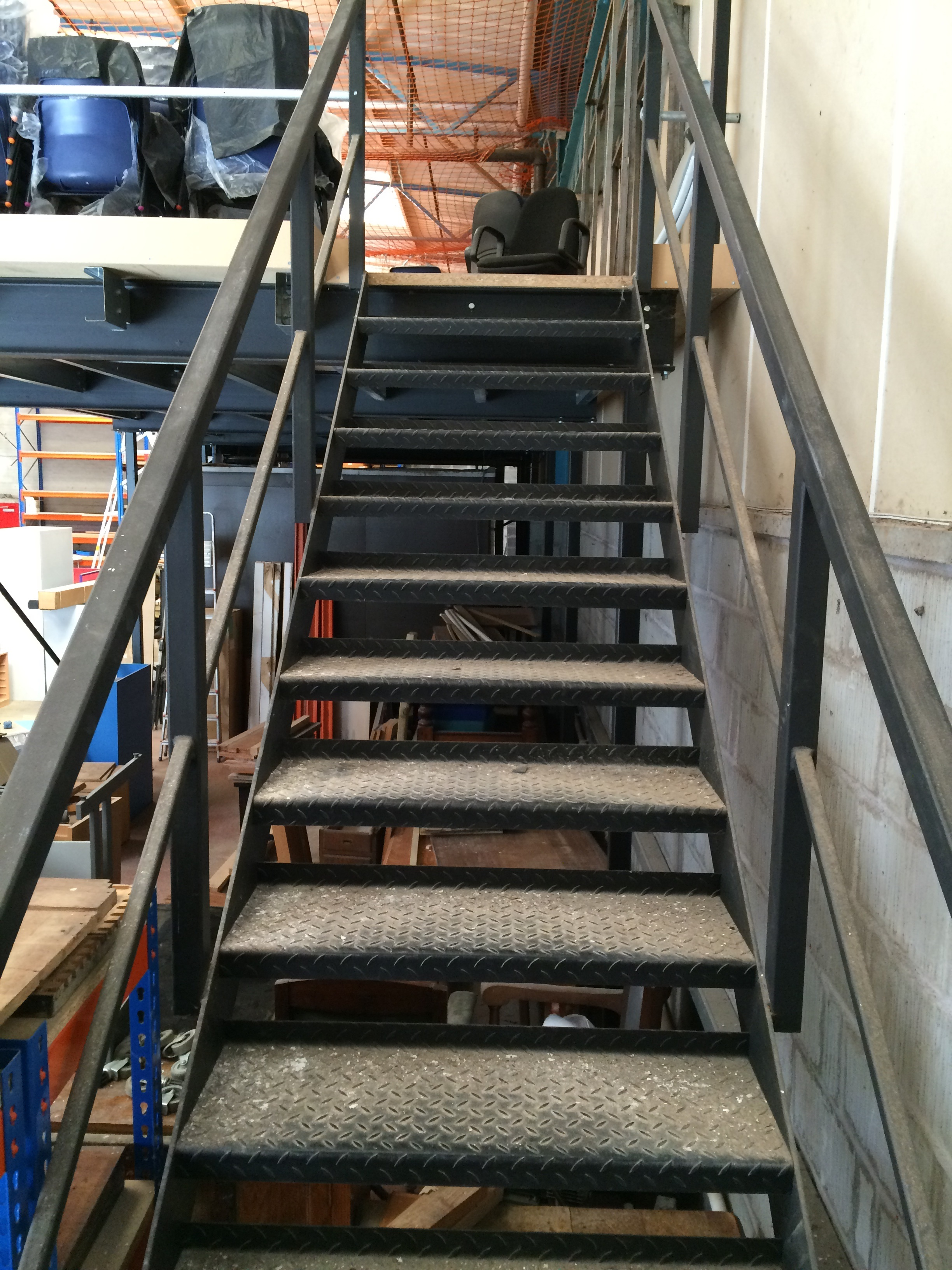 Safety Rails For Mezzanine : Mezzanine floor complete with safety rail staircase ft