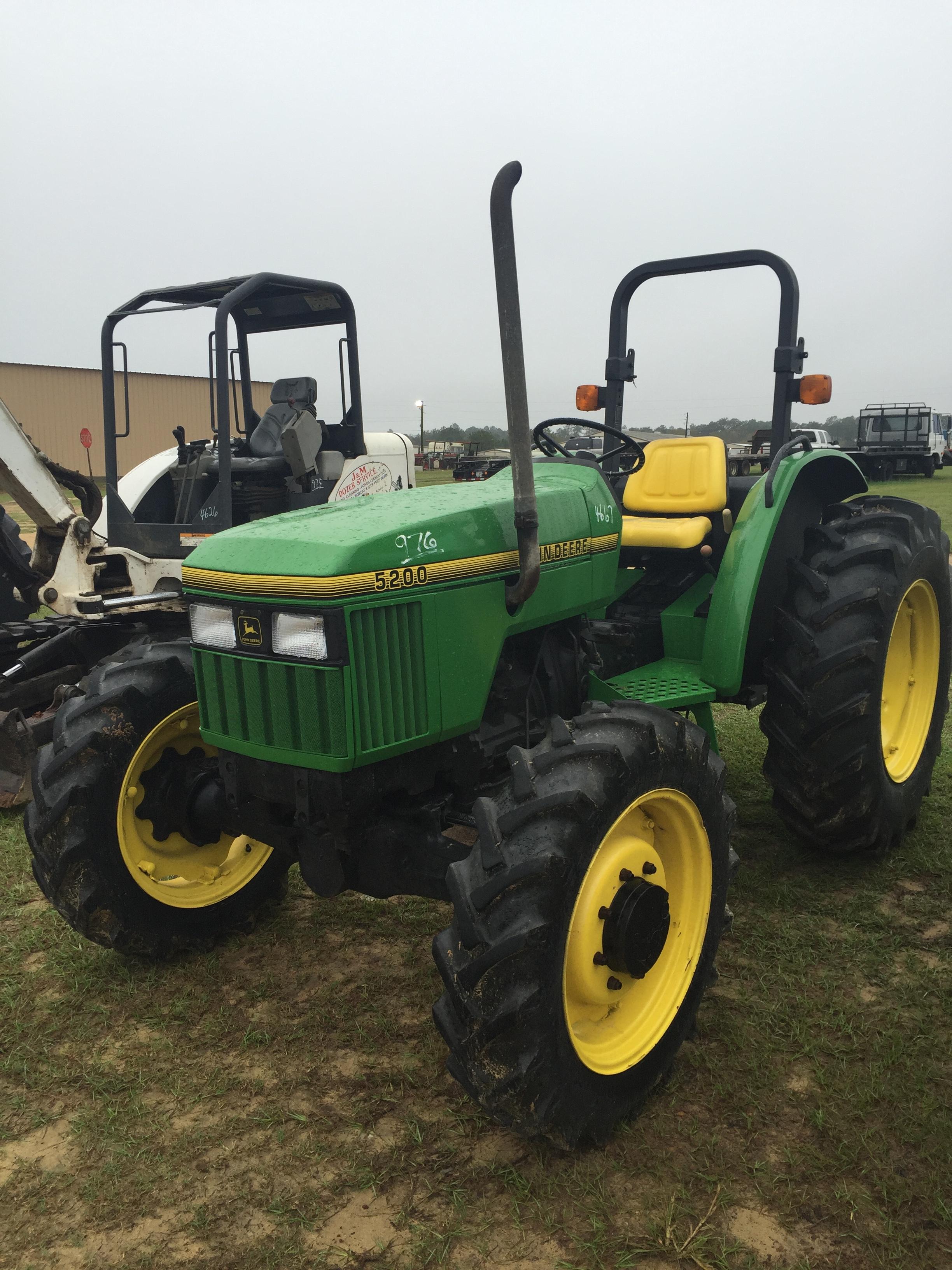 Id4667 John Deere 5200 Tractor Open 4wd Mileagehrs2047 Vin. Lot 976 John Deere 5200. John Deere. John Deere 5200 Tractor Wiring At Scoala.co