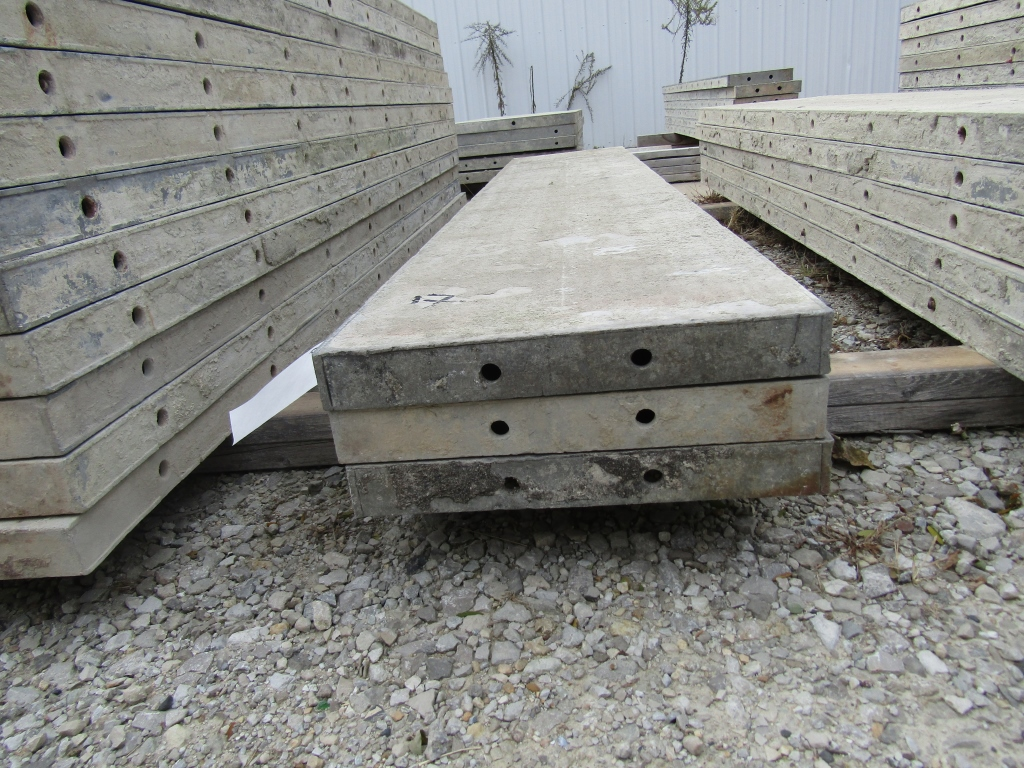 "(3) 17"" x 8' Durand Concrete Forms, Smooth 6-12 Hole Pattern, Attached Hardware, Located in Mt."