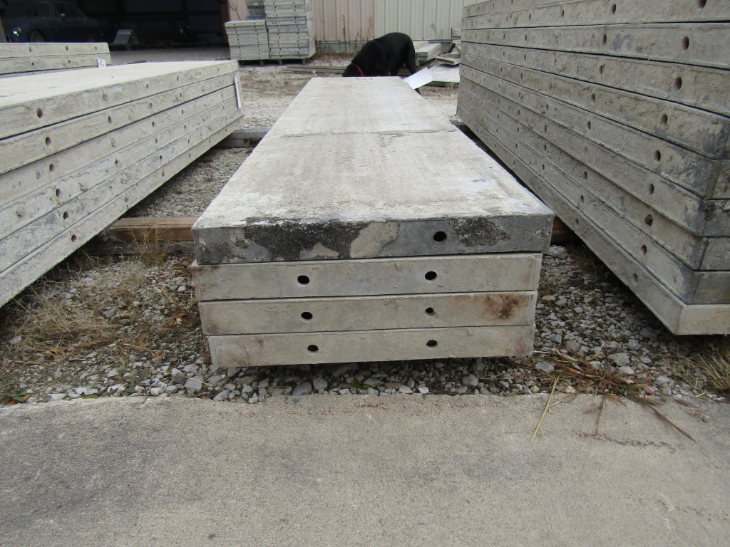 """(4) 19"""" x 8' Durand Concrete Forms, Smooth 6-12 Hole Pattern, Attached Hardware, Located in Mt. - Image 2 of 2"""