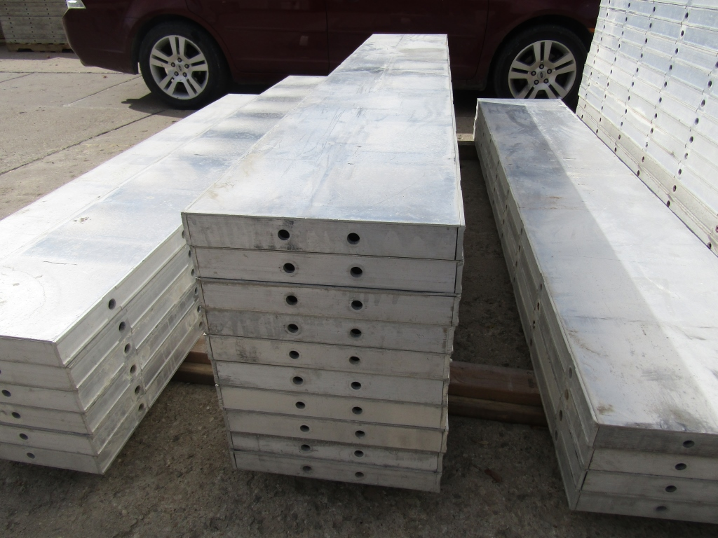 """(10) 16"""" x 8' New Durand Concrete Forms, Smooth 6-12 Hole Pattern, Attached Hardware, Located in Mt. - Image 2 of 2"""