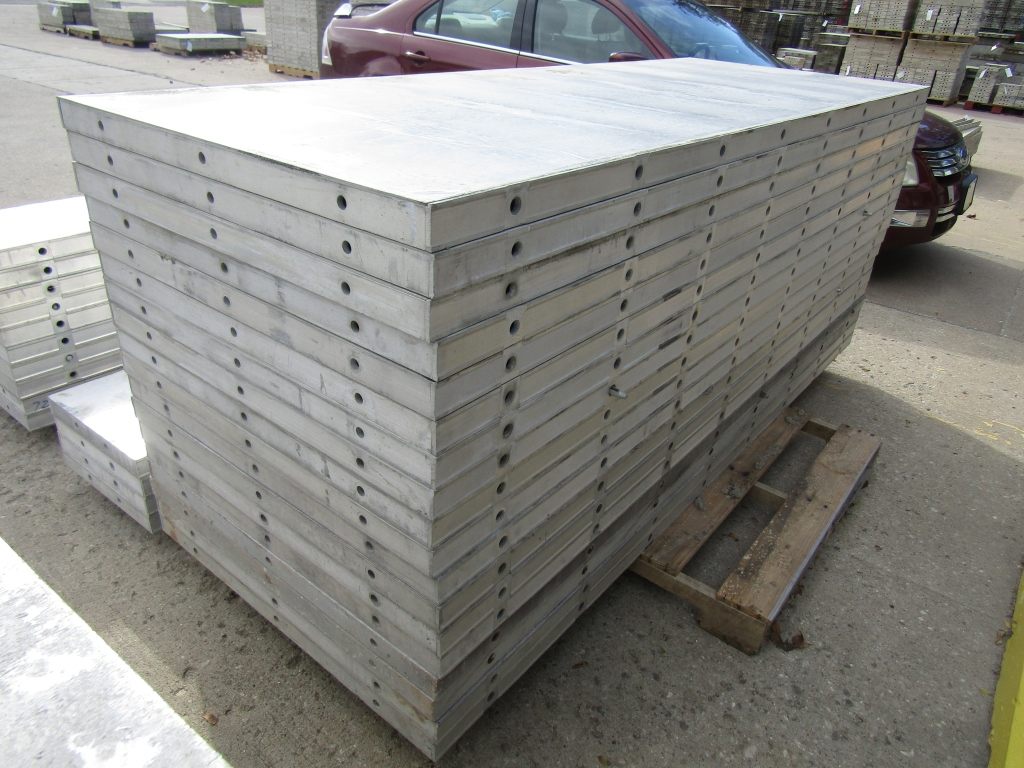 """(18) 36"""" x 8' New Durand Concrete Forms, Smooth 6-12 Hole Pattern, Attached Hardware, Located in Mt. - Image 3 of 4"""