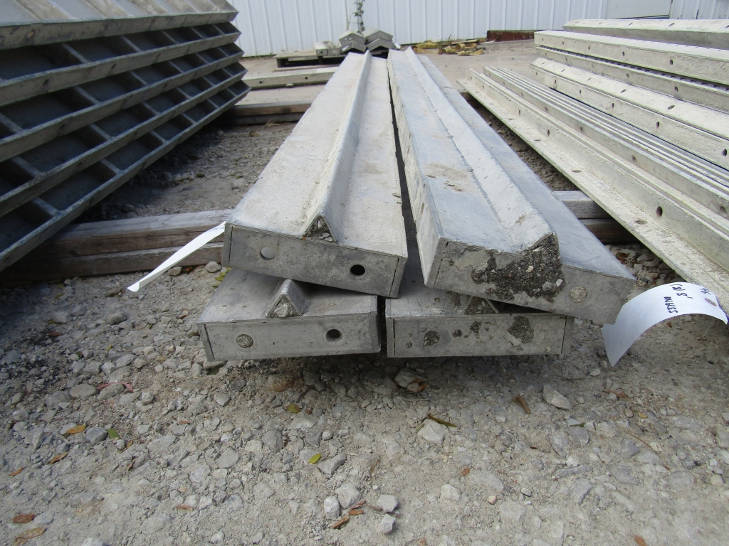 "(4) 8"" x 8' Stops Durand Concrete Forms, Smooth 6-12 Hole Pattern, Located in Mt. Pleasant, IA"