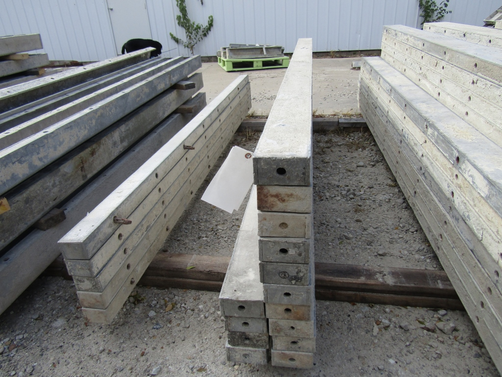 "(14) 4"" x 8' Durand Concrete Forms, Smooth 6-12 Hole Pattern , Located in Mt. Pleasant, IA"