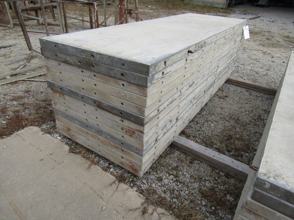 """(13) 32"""" x 8' Durand Concrete Forms, Smooth 6-12 Hole Pattern, Attached Hardware, Located in Mt. - Image 3 of 4"""