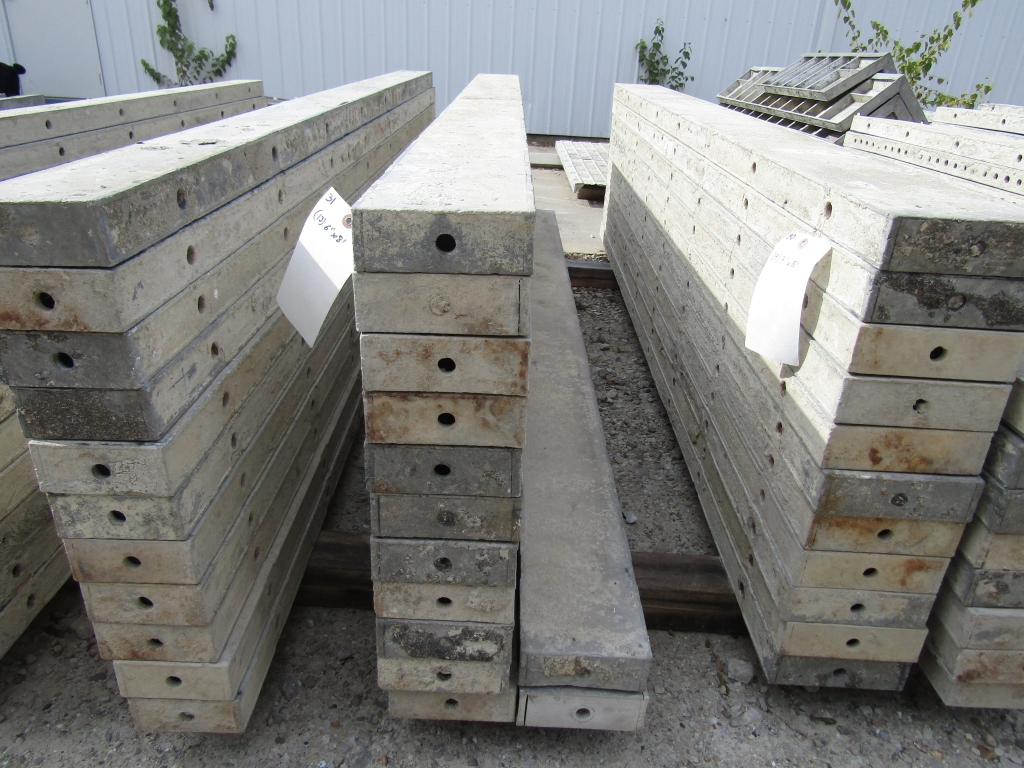 """(13) 6"""" x 8' Durand Concrete Forms, Smooth 6-12 Hole Pattern , Located in Mt. Pleasant, IA"""