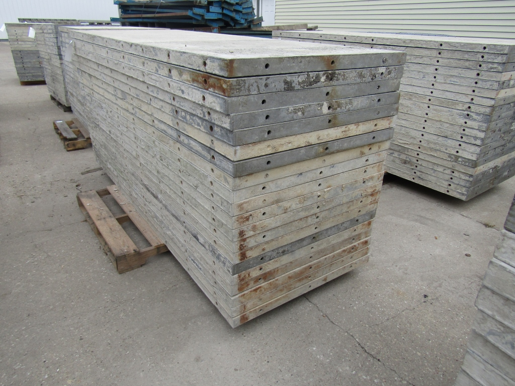 """(20) 36"""" x 8' Durand Concrete Forms, Smooth 6-12 Hole Pattern, Attached Hardware, Located in Mt. - Image 4 of 4"""