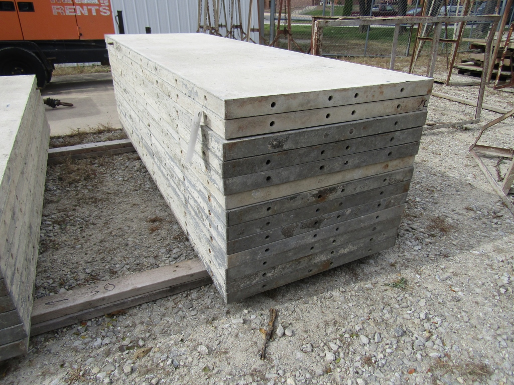 """(13) 32"""" x 8' Durand Concrete Forms, Smooth 6-12 Hole Pattern, Attached Hardware, Located in Mt."""