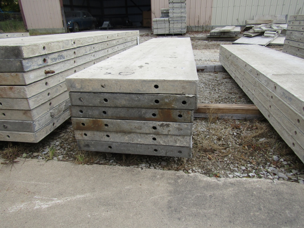 """(6) 20"""" x 8' Durand Concrete Forms, Smooth 6-12 Hole Pattern, Attached Hardware, Located in Mt. - Image 2 of 2"""