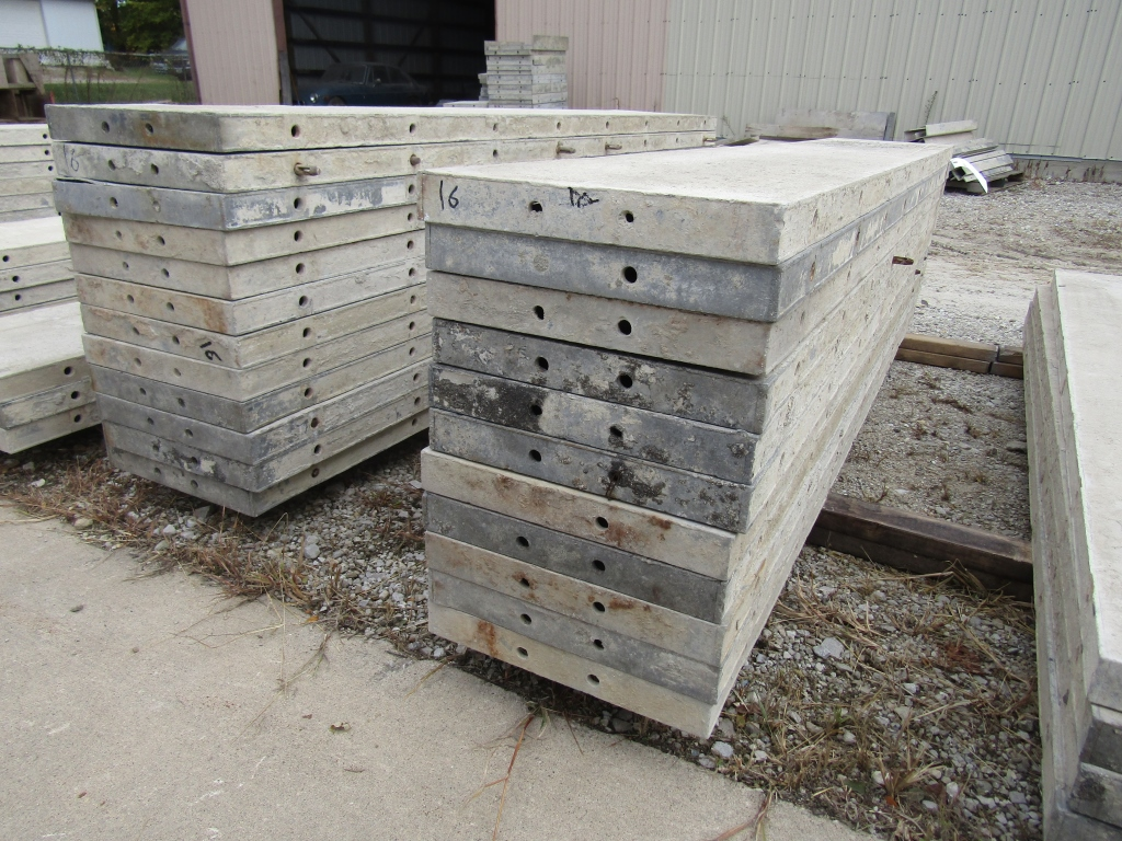 "(23) 16"" x 8' Durand Concrete Forms, Smooth 6-12 Hole Pattern, Attached Hardware, Located in Mt. - Image 2 of 4"