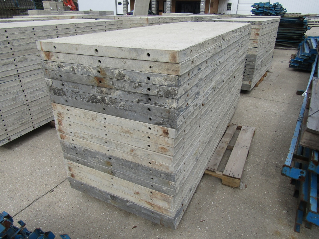 """(20) 36"""" x 8' Durand Concrete Forms, Smooth 6-12 Hole Pattern, Attached Hardware, Located in Mt. - Image 3 of 4"""
