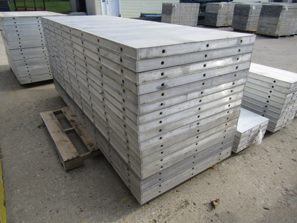 """(18) 36"""" x 8' New Durand Concrete Forms, Smooth 6-12 Hole Pattern, Attached Hardware, Located in Mt. - Image 2 of 4"""