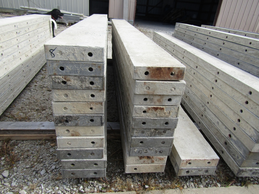 "(23) 8"" x 8' Durand Concrete Forms, Smooth 6-12 Hole Pattern , Located in Mt. Pleasant, IA"