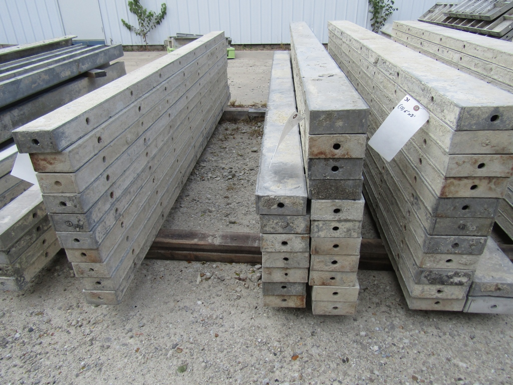 "(18) 5"" x 8' Durand Concrete Forms, Smooth 6-12 Hole Pattern , Located in Mt. Pleasant, IA"