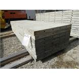 """(8) 30"""" x 8' Durand Concrete Forms, Smooth 6-12 Hole Pattern, Attached Hardware, Located in Mt."""