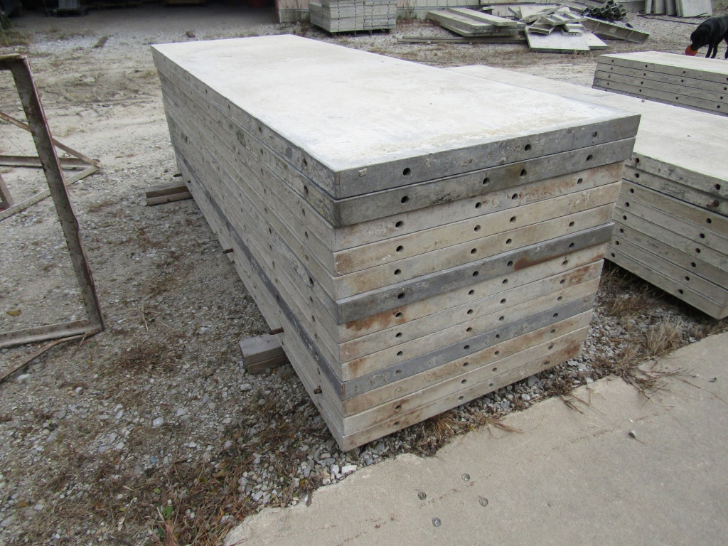 """(13) 32"""" x 8' Durand Concrete Forms, Smooth 6-12 Hole Pattern, Attached Hardware, Located in Mt. - Image 2 of 4"""