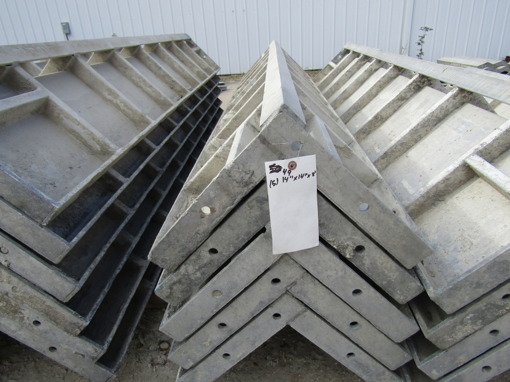 """(5) 12"""" x 12"""" x 8' Durand Concrete Forms Corners, Smooth 6-12 Hole Pattern, Located in Mt. Pleasant,"""