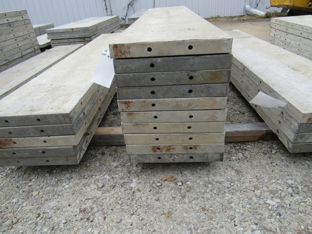"""(15) 18"""" x 8' Durand Concrete Forms, Smooth 6-12 Hole Pattern, Attached Hardware, Located in Mt. - Image 2 of 4"""