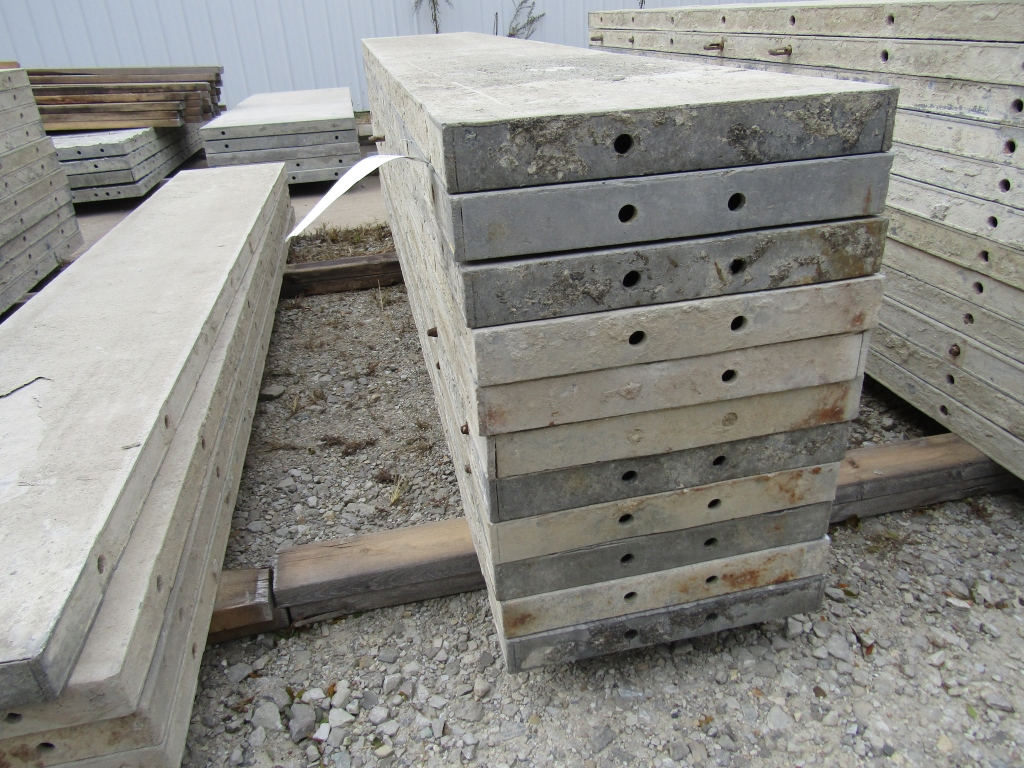 "(23) 16"" x 8' Durand Concrete Forms, Smooth 6-12 Hole Pattern, Attached Hardware, Located in Mt."