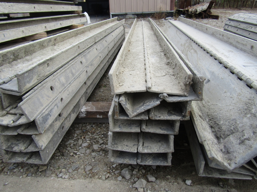 """(6) 4"""" x 8' Durand Concrete Forms Hinged, Smooth 6-12 Hole Pattern, Located in Mt. Pleasant, IA - Image 2 of 2"""