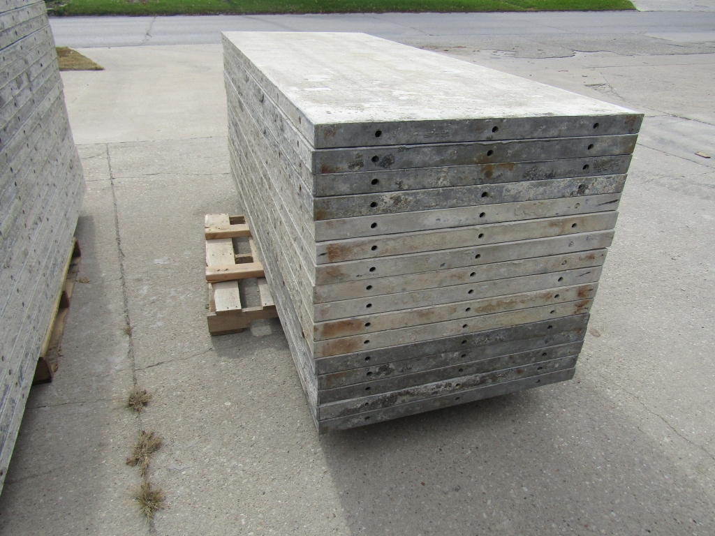 "(16) 36"" x 8' Durand Concrete Forms, Smooth 6-12 Hole Pattern, Attached Hardware, Located in Mt. - Image 2 of 4"