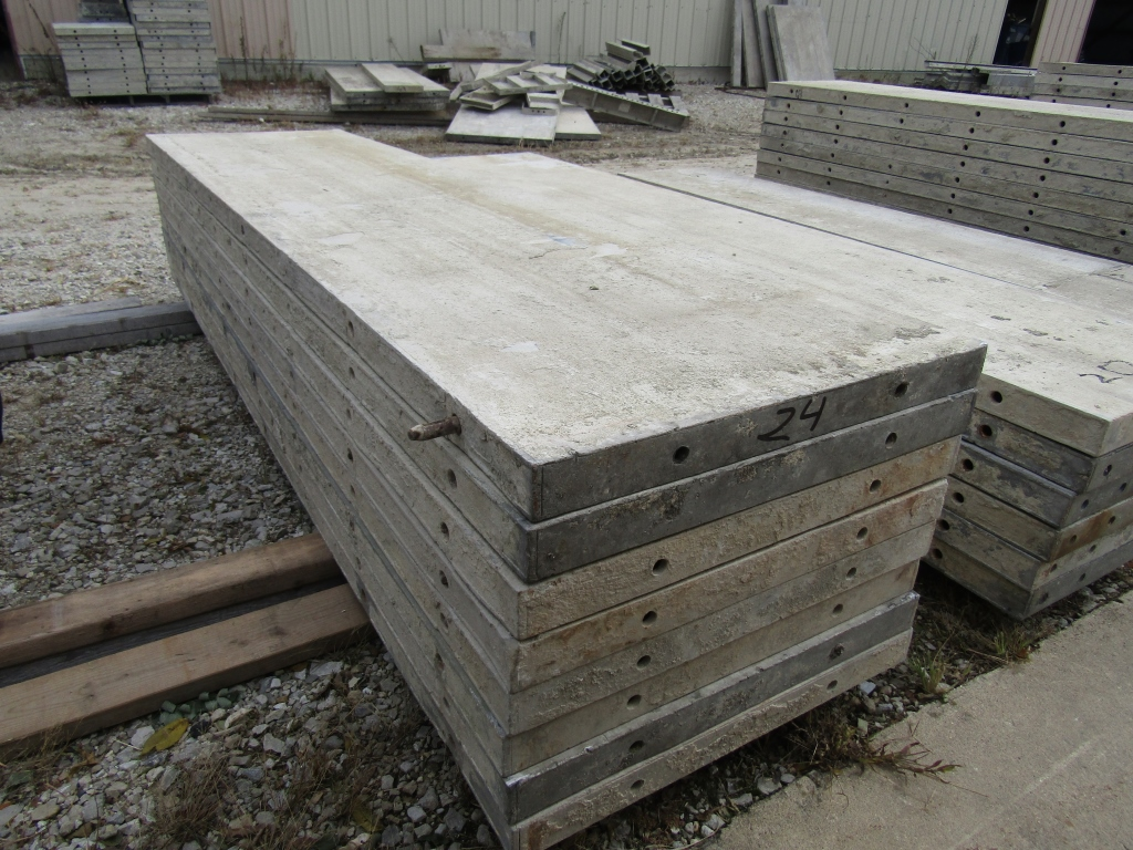 """(8) 24"""" x 8' Durand Concrete Forms, Smooth 6-12 Hole Pattern, Attached Hardware, Located in Mt. - Image 3 of 3"""