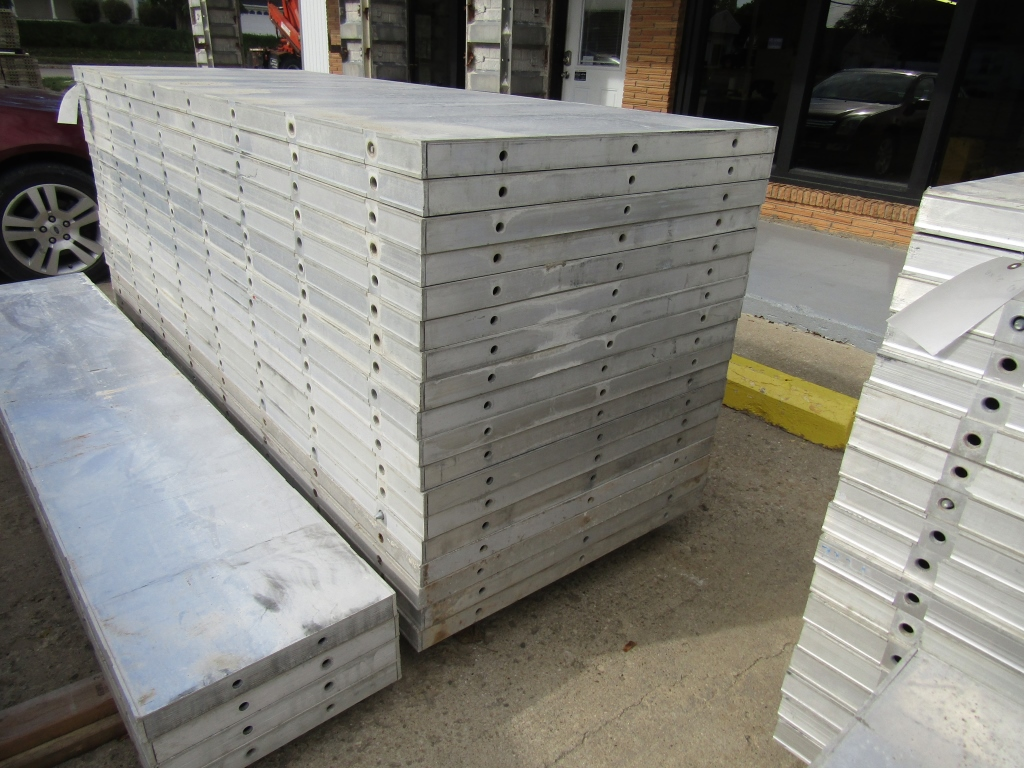 """(18) 36"""" x 8' New Durand Concrete Forms, Smooth 6-12 Hole Pattern, Attached Hardware, Located in Mt. - Image 4 of 4"""