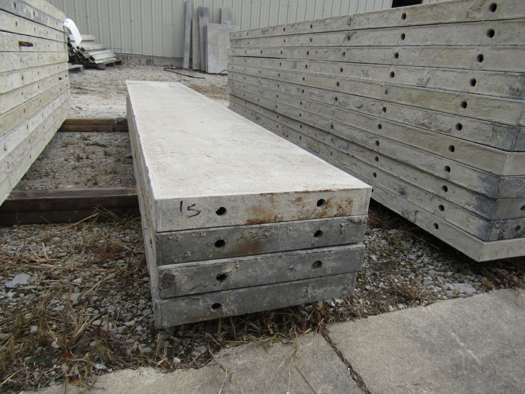 """(4) 15"""" x 8' Durand Concrete Forms, Smooth 6-12 Hole Pattern, Attached Hardware, Located in Mt. - Image 2 of 2"""