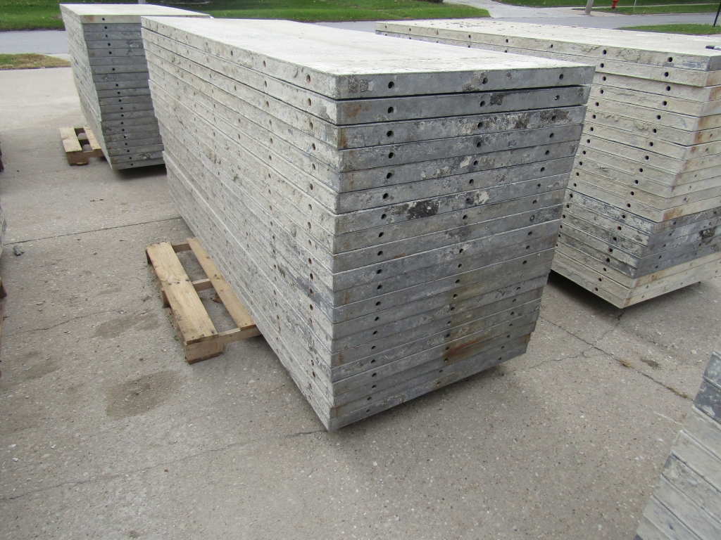 """(20) 36"""" x 8' Durand Concrete Forms, Smooth 6-12 Hole Pattern, Attached Hardware, Located in Mt. - Image 2 of 4"""