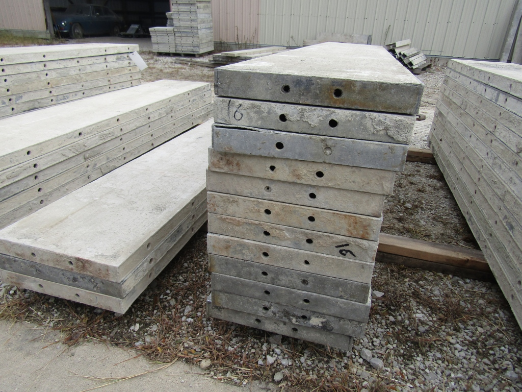 "(23) 16"" x 8' Durand Concrete Forms, Smooth 6-12 Hole Pattern, Attached Hardware, Located in Mt. - Image 4 of 4"