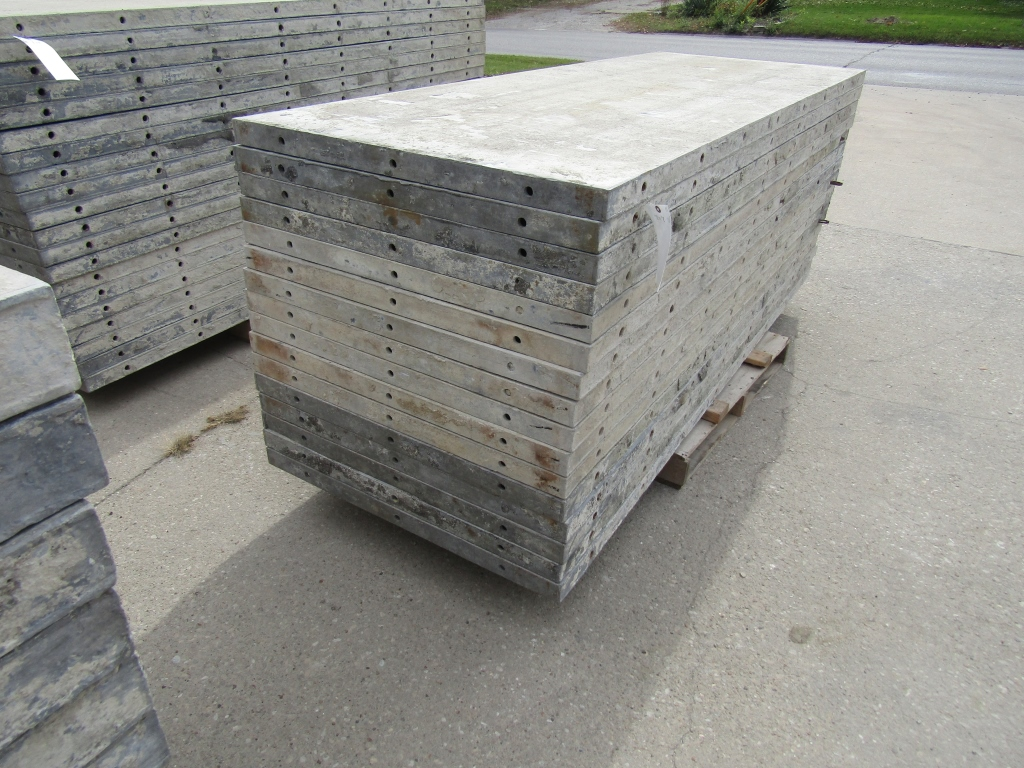 "(16) 36"" x 8' Durand Concrete Forms, Smooth 6-12 Hole Pattern, Attached Hardware, Located in Mt."