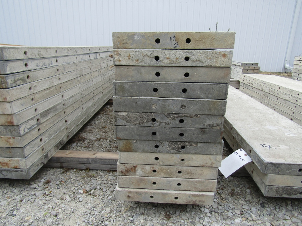 "(23) 16"" x 8' Durand Concrete Forms, Smooth 6-12 Hole Pattern, Attached Hardware, Located in Mt. - Image 3 of 4"