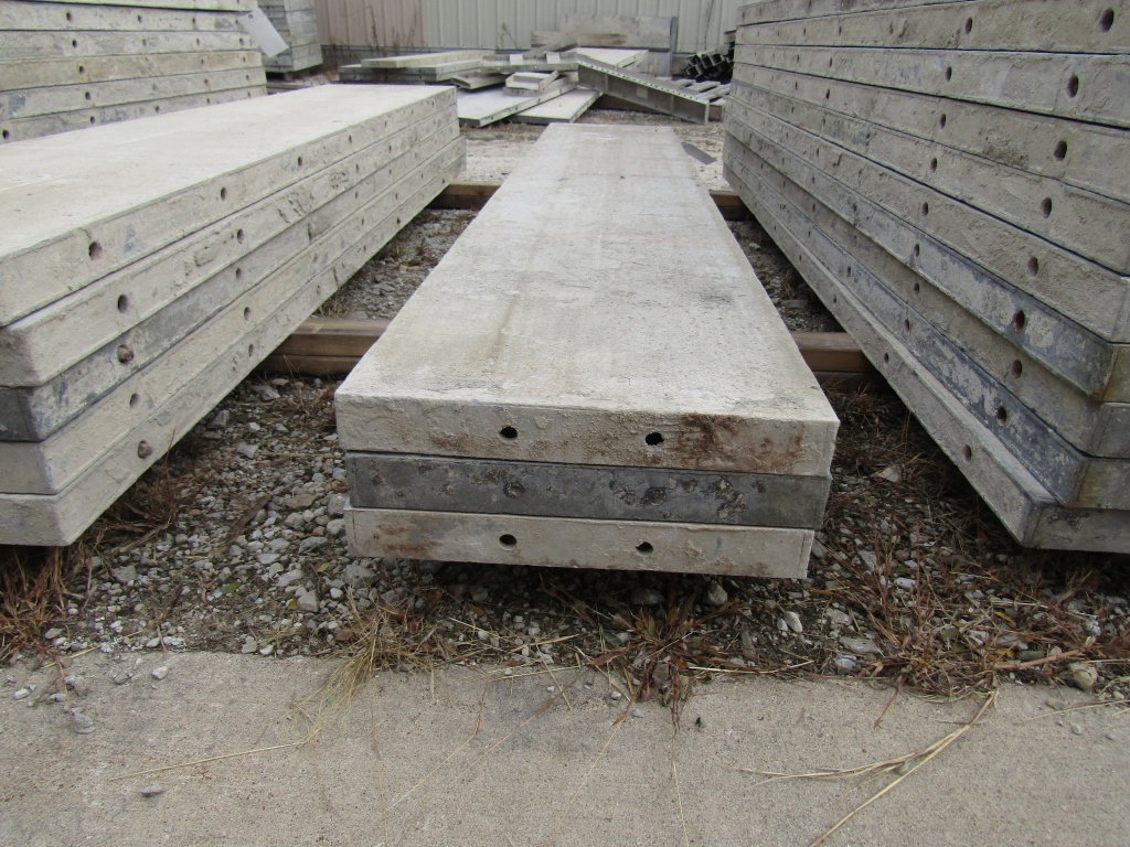 "(3) 17"" x 8' Durand Concrete Forms, Smooth 6-12 Hole Pattern, Attached Hardware, Located in Mt. - Image 2 of 2"
