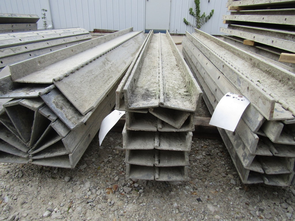 """(6) 4"""" x 8' Durand Concrete Forms Hinged, Smooth 6-12 Hole Pattern, Located in Mt. Pleasant, IA"""