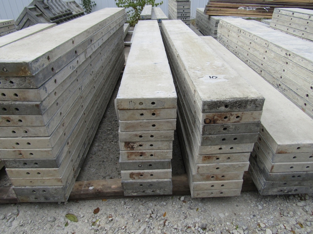 """(20) 10"""" x 8' Durand Concrete Forms, Smooth 6-12 Hole Pattern , Located in Mt. Pleasant, IA"""