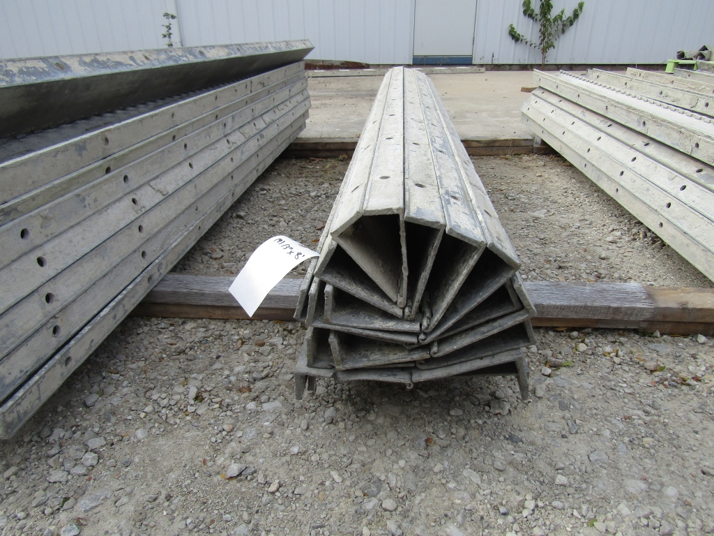 "(9) 6"" x 8' Durand Concrete Forms Hinged, Smooth 6-12 Hole Pattern, Located in Mt. Pleasant, IA"