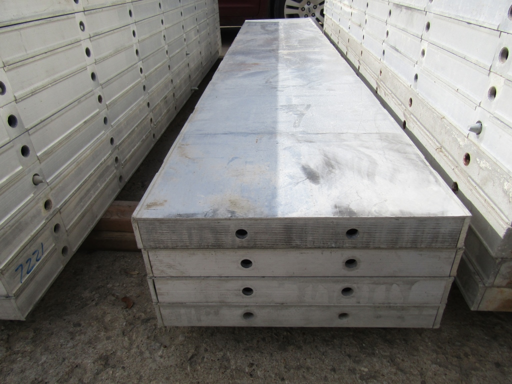 """(4) 18"""" x 8' New Durand Concrete Forms, Smooth 6-12 Hole Pattern, Attached Hardware, Located in - Image 2 of 2"""
