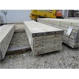 """(6) 20"""" x 8' Durand Concrete Forms, Smooth 6-12 Hole Pattern, Attached Hardware, Located in Mt."""
