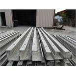 """(3) 4""""x4""""x8' & (3) 5""""x5""""x8' Durand Concrete Forms, Inside Corners, Smooth 6-12 Hole Pattern, Full"""