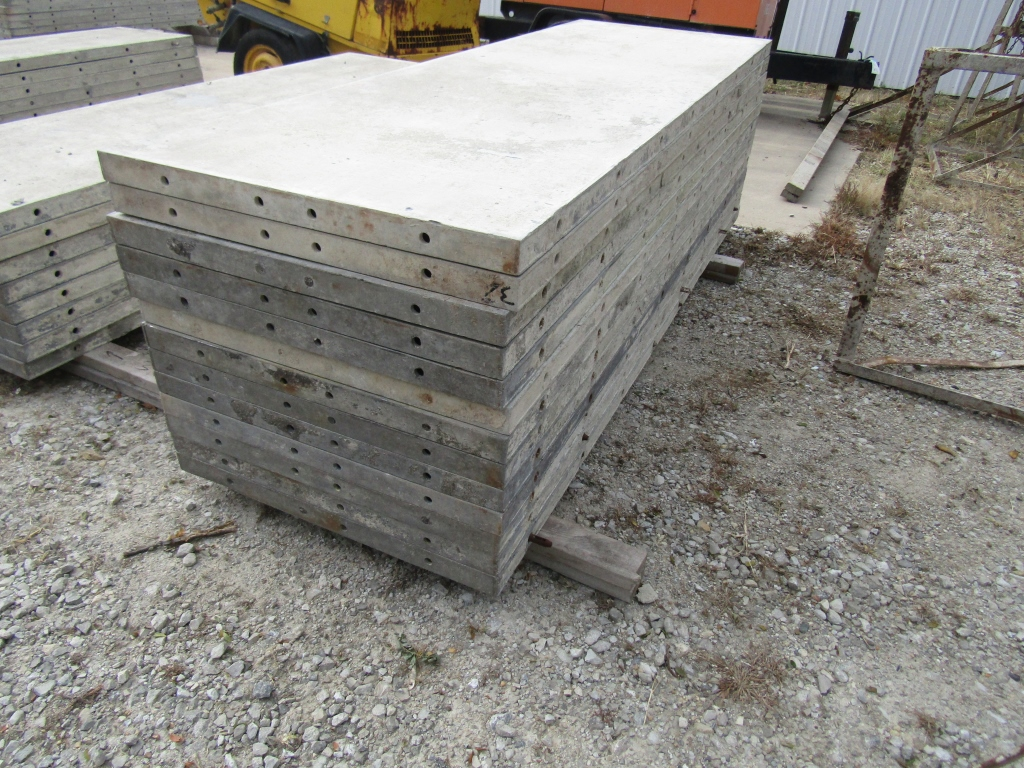 """(13) 32"""" x 8' Durand Concrete Forms, Smooth 6-12 Hole Pattern, Attached Hardware, Located in Mt. - Image 4 of 4"""