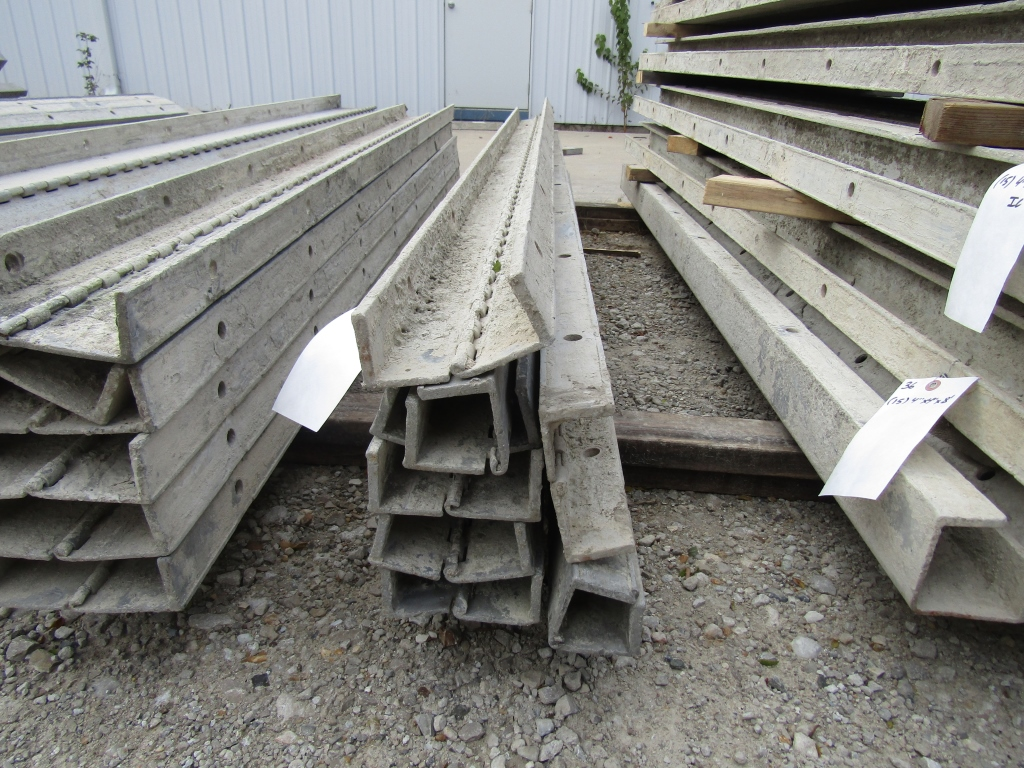 """(7) 2 1/2"""" x 8' Durand Concrete Forms Hinged, Smooth 6-12 Hole Pattern, Located in Mt. Pleasant, IA"""