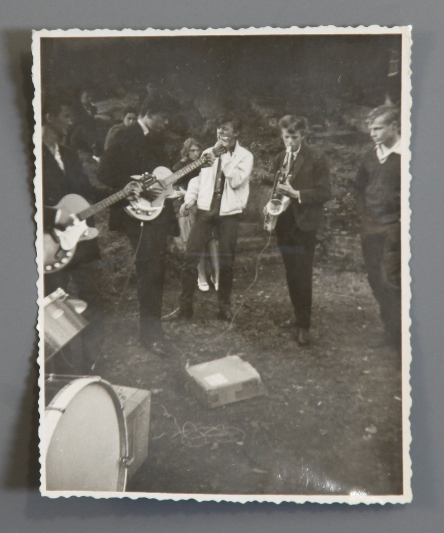 Lot 61 - David Bowie unpublished photograph of his first band, The Konrads with Himself, aka Davy Jones