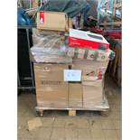 1 x Pallet of Mixed Stock/Stationery Including Tower Fans, Bankers Boxes, Lever Arch Files,
