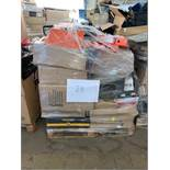 1 x Pallet of Mixed Stock/Stationery Including Envelopes, Bankers Boxes, Utility Trolley, Soap