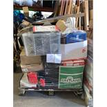 1 x Pallet of Mixed Stock/Stationery Including Laminator, Envelopes, Printer, Storage Tubs,