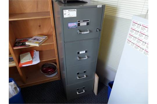 Diebold 4 Drawer Fireproof Legal File Cabinet