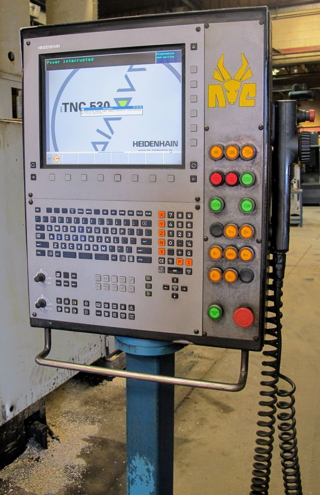 "Lot 45 - NICOLAS CORREA FP-30/30 CNC Bridge Type Vertical Machining Center, s/n 8900104, 49"" x 120"" Table ("
