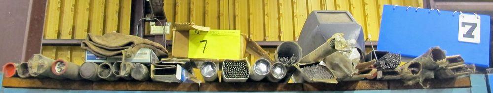 Lot 7 - LOT ASST. WELDING RODS, ELECTRODES, ETC. W/ CABINET