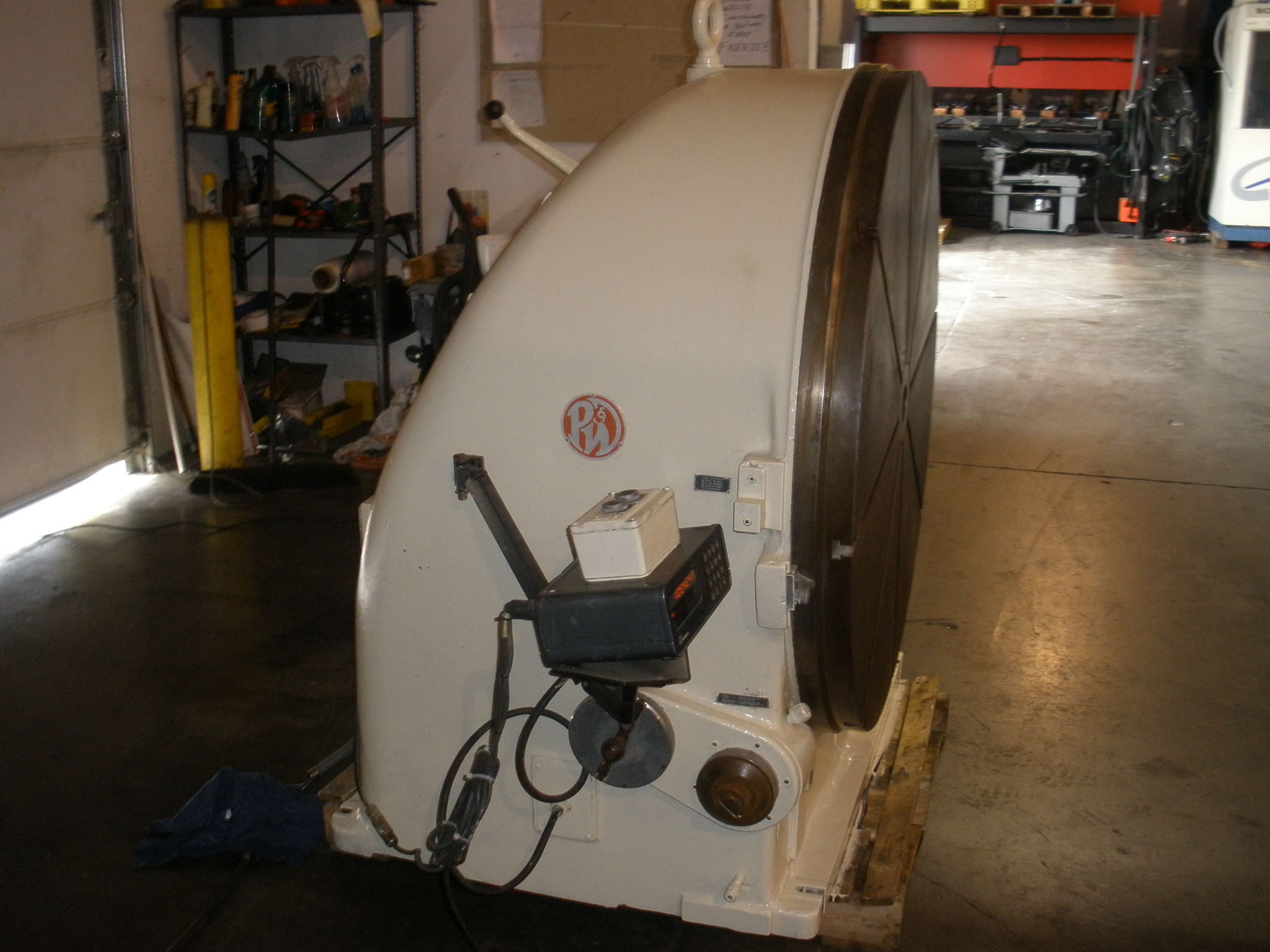 Pratt Whitney 48 Vertical Motorized Rotary Table W Dro