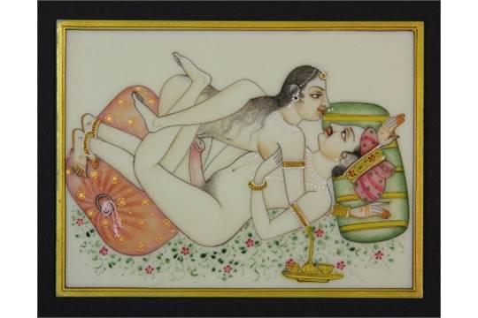 Hand painted erotic indian artwork